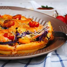彩蔬鲜虾披萨