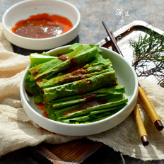 凉拌沙茶油麦菜