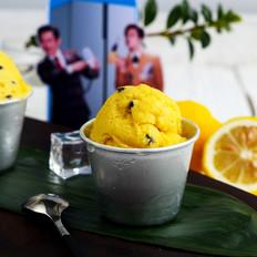 热带水果牛奶冰淇淋