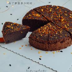 红糖黑米桂花糕