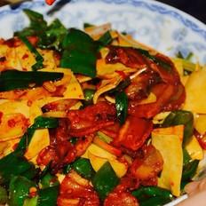 五花肉炒豆腐皮儿