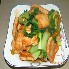 小白菜炕豆腐