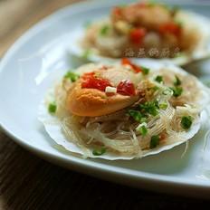 鲜嫩无比的家宴菜--蒜蓉粉丝蒸扇贝王