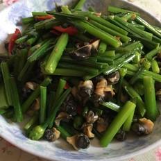 螺蛳肉炒韭菜花