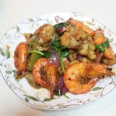 家常版干锅牛蛙虾