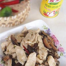 鸡片炒香菇