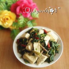 水萝卜缨炖豆腐