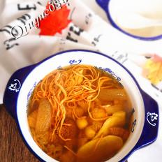 猴菇虫草竹荪滋补汤