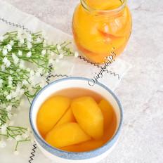 自制纯天然黄桃罐头