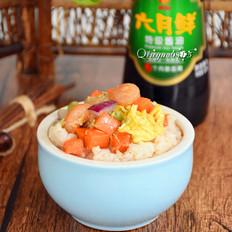 虾味蛋液炒蔬菜