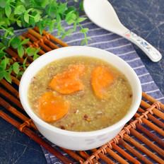 小米红薯血麦粥