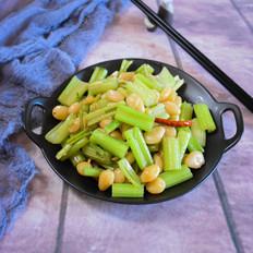 芹菜炒白果