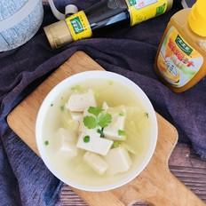 鸡汁豆腐汤 │豆腐的家常做法,简单又美味。