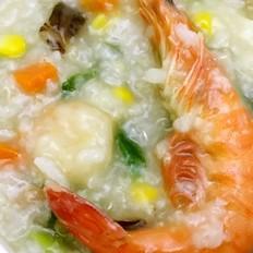 虾仁蔬菜藜麦粥
