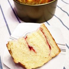 果酱夹心网纹面包