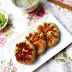 白菜猪肉虾仁馅饼