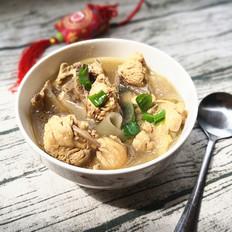 鸡架粉皮汤