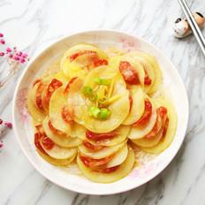 土豆蒸腊肠