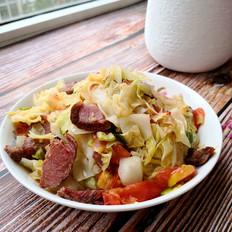 牛肉炒圆白菜