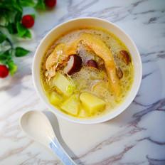 土豆香菇鸡汤