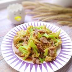 花菜炒肉片