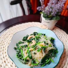 开胃爽口的菠菜拌粉丝