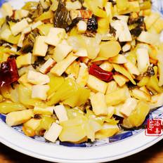 辣子腌菜冬笋炒豆干