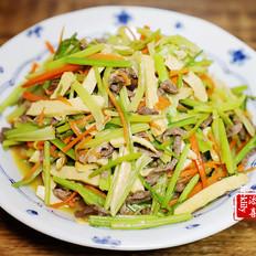 【添喜的厨房】芹菜胡萝卜炒牛肉丝