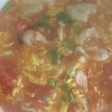 番茄虾面疙瘩汤