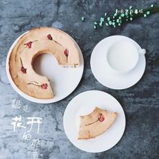 蔓越莓樱花天使蛋糕
