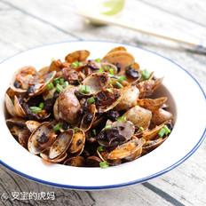 香菇酱炒花蛤