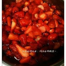 冰冻草莓罐头