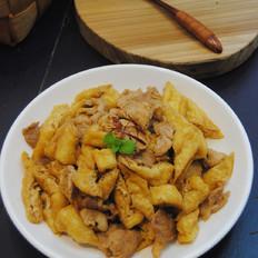 豆腐泡炒肉片