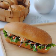 咸肉鲜虾堡