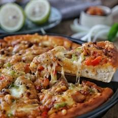 黑胡椒鸡肉披萨