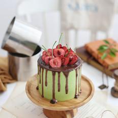 黑米抹茶慕斯蛋糕