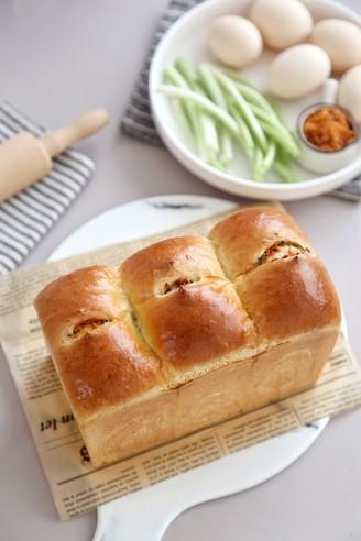 香葱肉松面包的做法
