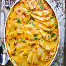 奶酪烩土豆南瓜泥