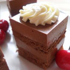 黑巧克力慕斯(可可戚风蛋糕)