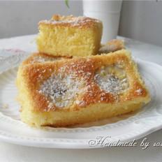 香蕉海绵椰香蛋糕