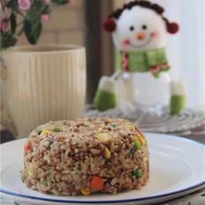 鸡蛋玉米红米炒饭