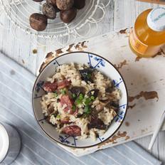 香菇腊肠板栗焖饭