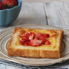 草莓芝士吐司片