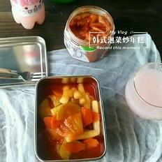 韩式泡菜炒年糕的做法