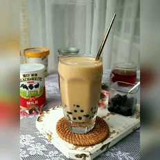珍珠奶茶(黑白淡奶)
