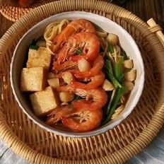 鲜虾干贝汤面