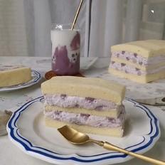 芋泥奶油切块蛋糕