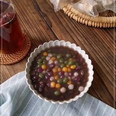 抹茶园子芋圆红豆汤