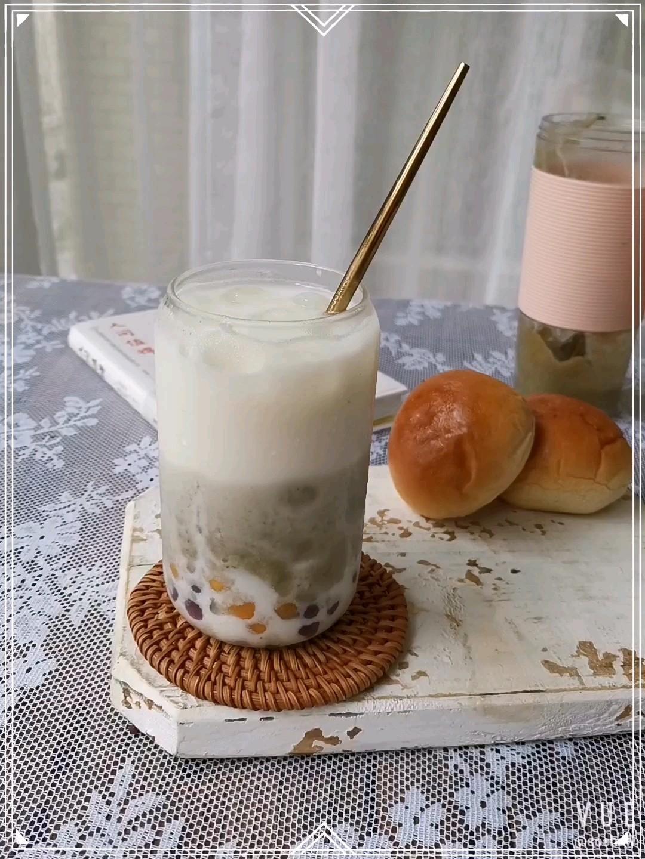 芋圆绿豆沙鲜奶