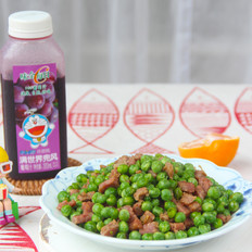 香肠炒豌豆